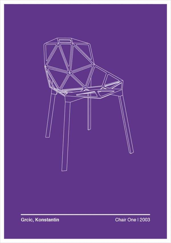 Chair-Inspired Graphic Posters