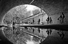 Serene City Reflection Photography