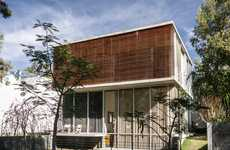 Arboreal Latin Lairs - The Beautiful Casa eR2 by em-estudio Blends Nature with Industrial Elements