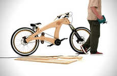 Wooden DIY Bicycles - Jurgen Kuipers' Sawyer Bike Design is a Fly Way to Plough Through Your City