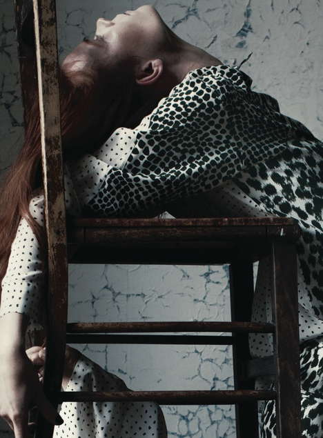 Edgy Contortionist Editorials - The Another Magazine A Little Swelling Photoshoot is Intertwined