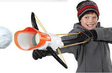 Snowball-Launching Crossbows