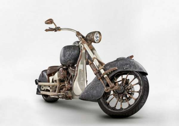 Extravagantly Rustic Gold Motorcycles