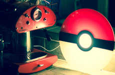 Glowing Anime Night Lights - This Creative Source of Illumination is Designed After the Pokemon Ball
