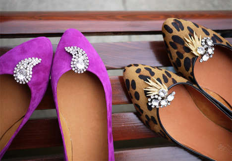 Interchangeable Shoe Jewelry - Make Any Pair of Flats Fabulous with This Easy DIY Using Old Earrings