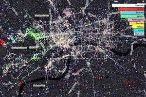 Fast Company Design Aerial Maps Reveal Twitter User Data of NYC and London