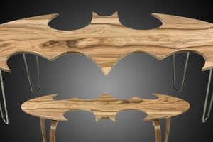 These Batman Logo Coffee Tables are a Must for Any Superhero's Hom