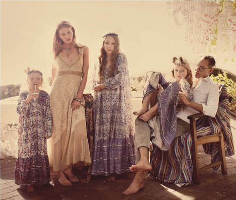 Boho Family Fashion Catalogs - The Free People April 2013 Lookbook is Free-Sprited and Diverse