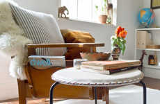 DIY Seat Upholstery Projects - The Minimal Leather Stool Cover Updates Old Furniture Pieces