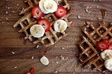 Nutritious Flapjack Stacks - Joy the Baker's Whole Grain Waffles Are Infused with Flax and Sunflower