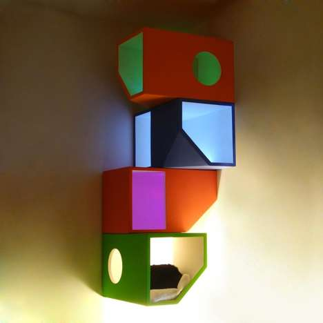 Colorful Cat Apartments - The Catissa by Mojorno is a Contemporary Home for Precious Pets