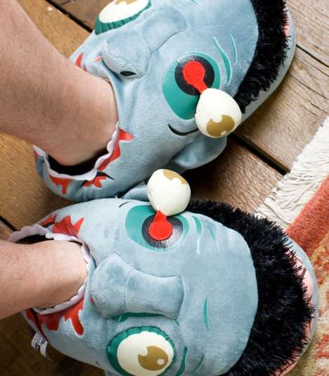 Eerie Zombie Head Slippers - These Walking Dead Accessories are Comfy and Creepy