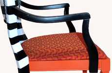 Refurbished Striped Seating
