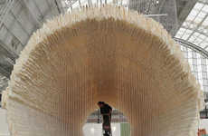 Prolific Parchment Installations - The Zhu Jinshi 'Boat' is a 12 Meter-Long Rice Paper Construction