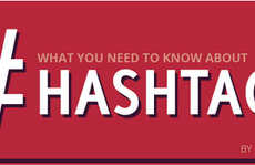 Informative Hashtag Guides - This 'Online Circle' Infographic Explores the History of the Hashtag