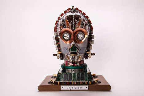 Recycled Keyboard Androids  - Gabriel Dishaw's C3PO Recycled Artwork Puts R2-D2 to Shame