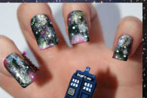 These Sci-Fi Nails Showcase Characters from The Doctor Who Series