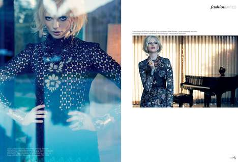Stylish Slate Editorials - The Flair Germany Frankie, Darling... Photoshoot Displays Blue Hues