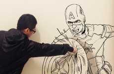 Mid-Action Comic Illustrations