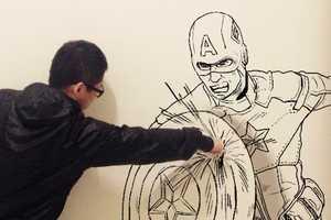 Gaikuo-Captain's Images Mirror Classic Marvel Scenes