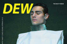 Futuristically Fashionable Covers - The Dew Magazine Sci-Fi Issue Embraces Its Otherworldly Theme
