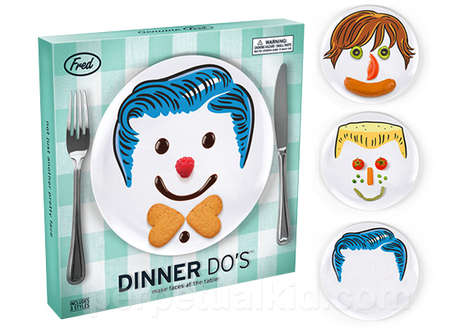 Food-Made Plate Portraits - The Dinner Do's Plate Set Encourages Kids to Play With Their Food