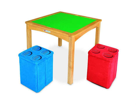 Building Block Playtime Tables - The LEGO Activity Table Features a Built-In Board for Building