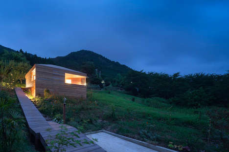 Modern Wood Cabin Residences - The Skyward House by Kazuhiko Kishimoto is Contemporary and Woodsy