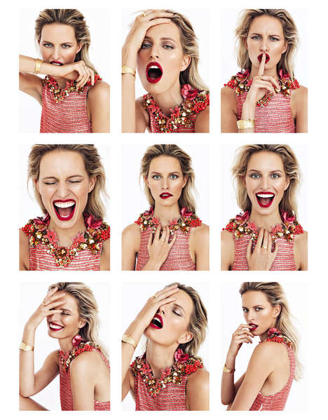 Endearingly Expressive Editorials - The ELLE Czech Photoshoot Stars Karolina Kurkova