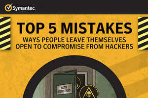 Symantic's Infographic Shows the Five Biggest Web Security Mistakes