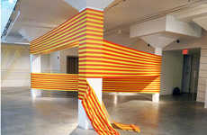 Tape-Wrapped Interiors - Rebecca Ward Creates Amazing Illusionary Tape Art