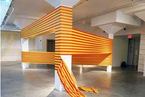 Rebecca Ward Creates Amazing Illusionary Tape Art
