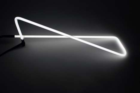 Geometric Neon Desk Lamps - The Tetra Light by Brooks Atwood is Inspired by the Film