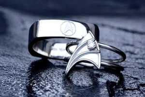VaLaJewelry's Geek Wedding Rings Woo the Nerdiest Fingers in the Land