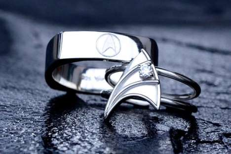 geek wedding rings