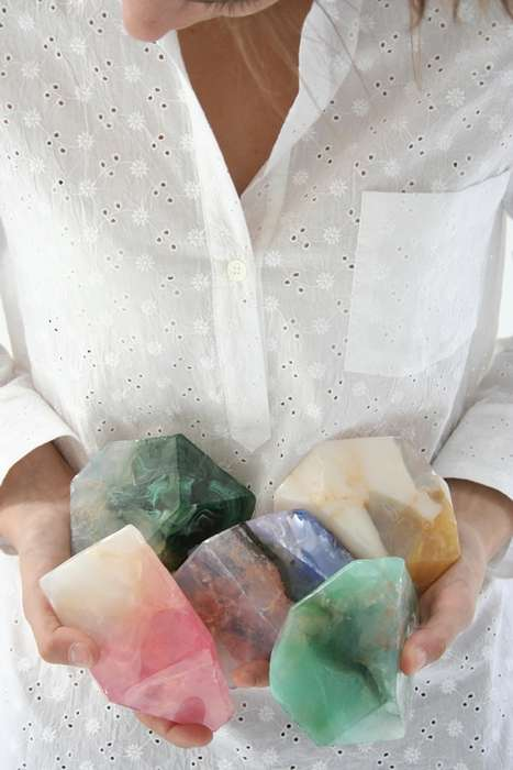 Pebble-Shaped Bathroom Products - The Beklina Soap Rocks Are Modeled on Small Boulders