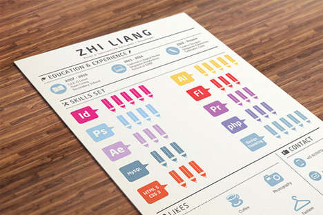 Informative Infographic Resumes - This Resume Could Land You a Creative Industries Internship