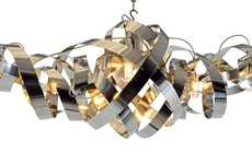 Contorting Chrome Chandeliers