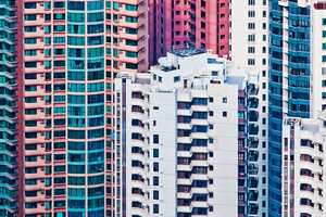The Hong Kong Facades Series by Miemo Penttinen is Visually Bold