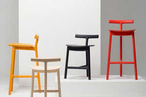 The Radice Stool's Design is Business in the Front and a Party in the Back