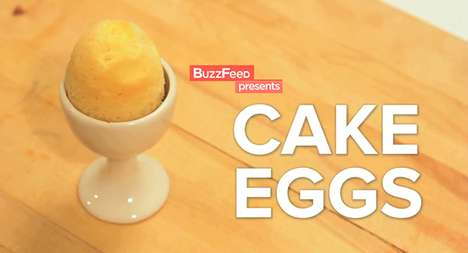 egg shaped cakes