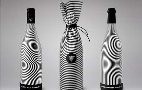 Dizzying Beverage Branding - As its Contents do, Hrsz. 737 Wine Packaging Makes You Feel Tipsy