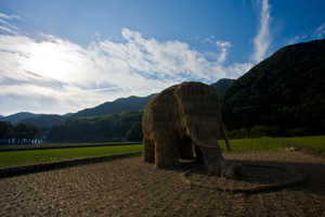 Musashino Art University's Rice Straw Art Structures are Eco-Friendly