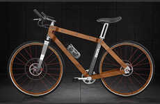Elegant Lumber Bicycles - The BKR Ecoframe Bike Takes Advantage of Timber's Forgiving Properties