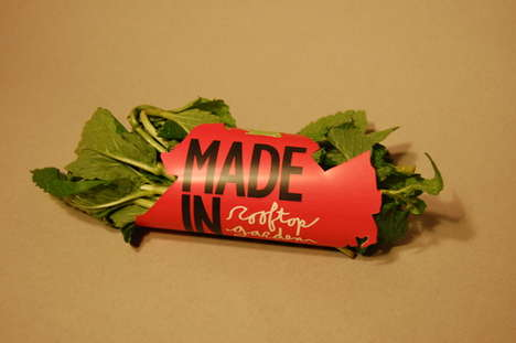 City-Shaped Produce Packaging - Made in BKLYN Herb Wrappers Assert the Contents