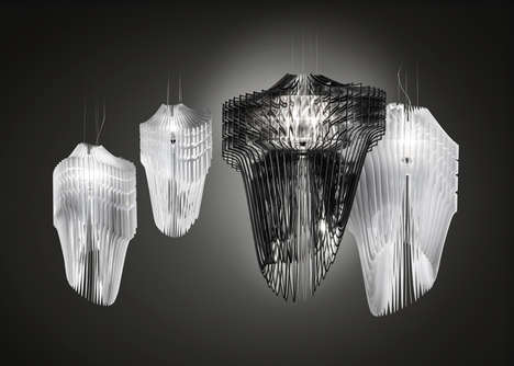 Warped Phantasmal Fixtures - The Aria and Avia Lamps Embody an Elegant but Spectral Asymmetry