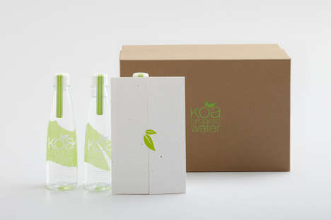 Koa Organic Water Packaging