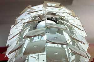 Veronique Lamarre Creates Spellbinding Light Fixtures Using Media Cases