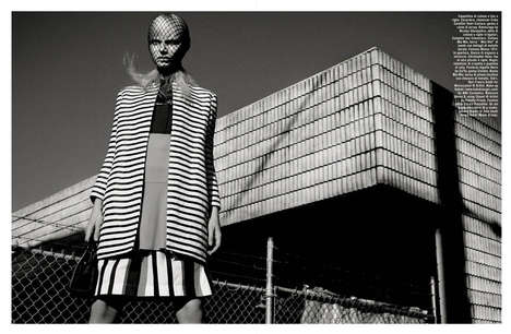 Avant-Garde Architecture Editorials - The Vogue Italia Suggestions Photoshoot is Mostly Geometric