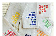 Manner-Minded Napkins - The Table Manners Dinner Napkins Encourage Kids to Be Polite and Pleasant